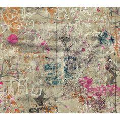"York Wallcoverings Urban Chic Street Art 27' x 27"" Abstract Roll Wallpaper"