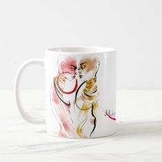 Modern watercolor fashion drawing Gemini zodiac Coffee Mug - home gifts ideas decor special unique custom individual customized individualized