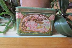 Vntg Seasons Tea Box Great Britain by DocsCollectables on Etsy