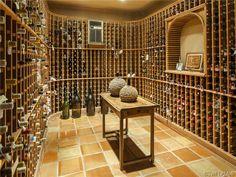 Impressive wine cellar in Pelican Bay Woods in Naples, FL