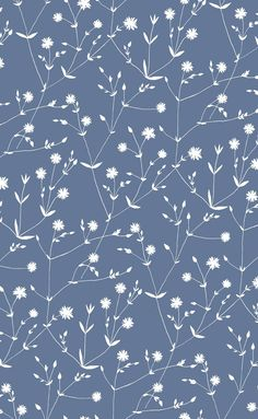Illalla Wallpaper Indigo/Cream