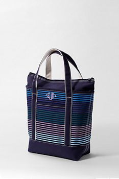 Print Zip Top Tote from Lands' End