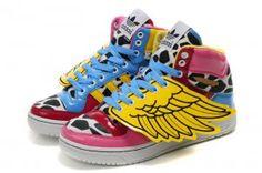 pretty nice 83680 eab4c Adidas Originals Jeremy Scott x JS Wings Pink Leopard Women s Running Shoes  adidas shoes india