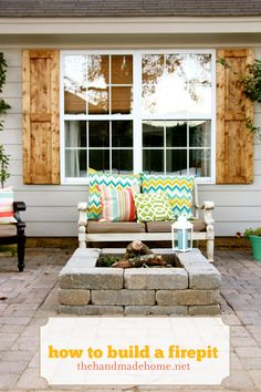 how to build a fire pit + porch Can hgtv come over & do this for my backyard? Love it!!