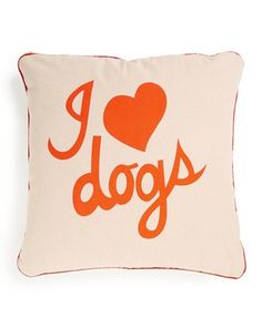 I heart dogs pillow  http://rstyle.me/n/ukc42pdpe
