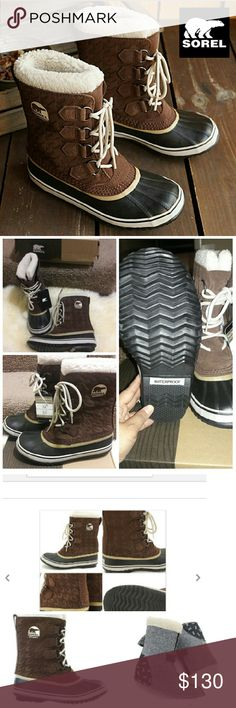 """🎉Sorel 1964 Pac Graphic 15 Waterproof boots NEW 🎉HP 12/12🎉SOREL """"1964"""".  High-quality waterproof suede upper offers comfort felt inner boot is warm. Waterproof design made with water from outside intrusion and to worry about rain and snow days. New never worn, size 6/Eur 37  runs 1/2 size big. Im a size7 & these fit snugged w/ thin socks. I live in CA so I dont need 2 pairs (I have a pair in purple 😉) comes w/ box. Make an offer I cant refuse 😊 Sorel Shoes Winter & Rain Boots"""