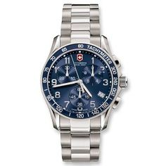 Men watches: Victorinox Swiss Army Chrono Classic Blue Dial Watches best price