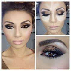 Highlighting with concealer. ( A bit more simple then Kim Kardashians full face contouring!)