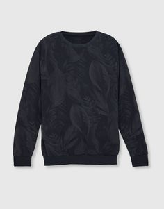 All-over print sweatshirt - Sweatshirts - Clothing - Man - PULL&BEAR Italy