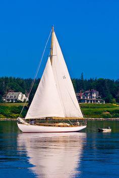 Sailboat, Castine harbor, Penobscot Bay, Maine USA | Blaine Harrington III Nantucket Beach, Bon Jovi, Sailboat, Sailing Ships, Maine, Usa, Summer, Travel, Sailing Boat