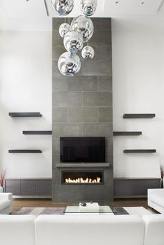 Terrific Free of Charge Contemporary Fireplace remodel Suggestions Modern fireplace designs can cover a broader category compared to their contemporary counterparts. Fireplace Shelves, Small Fireplace, Home Fireplace, Fireplace Remodel, Living Room With Fireplace, Fireplace Mantels, Living Room Decor, Fireplace Ideas, Living Rooms