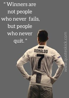 Cristiano Ronaldo C ristiano Ronaldo was born on Feb in Funchal, Madeira, Portugal. His full name is Cristiano Ronaldo d. Cr7 Quotes, Inspirational Football Quotes, Cheer Quotes, Sport Quotes, Motivational Quotes, Cheer Sayings, Best Football Quotes, Cristiano Ronaldo Quotes, Cristiano Ronaldo Wallpapers