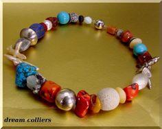 """Aquamarin - Imposante """" rest of the day """" Halskette - ein Designerstück von Dream-Colliers bei DaWanda"""