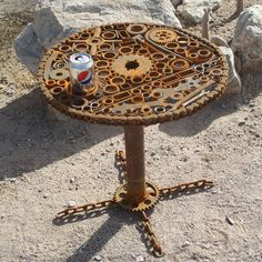 The Art of Up-Cycling: Upcycled Furniture Ideas - Creative ideas for upcycling at home and for busin Welding Art Projects, Diy Welding, Metal Welding, Welding Tools, Blacksmith Projects, Diy Tools, Woodworking Projects, Metal Sculpture Artists, Steel Sculpture