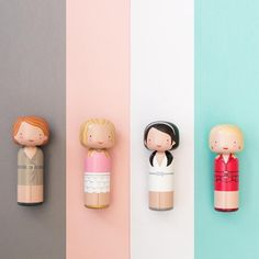 Sex and the City ( SATC ) custom Kokeshi Dolls - Sketchinc