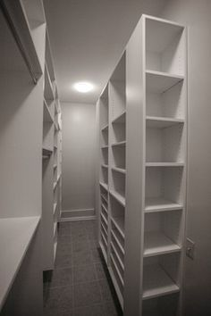 Contemporary Narrow Walk In Closet Ideas   HovGallery