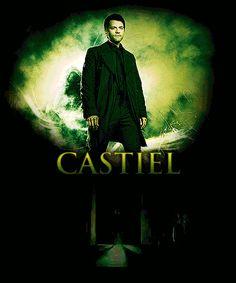 [gif] Castiel of Supernatural Castiel Gif, Supernatural Tv Show, Destiel, Castiel Angel, Emmanuelle Vaugier, Comic, Fan Art, Super Natural, Misha Collins