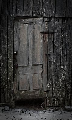 """Weathered door: """"Uncertainty and mystery are energies of life. Don't let them scare you unduly, for they keep boredom at bay and spark creativity."""" - R. I. Fitzhenry"""