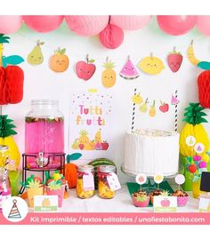 Kit de fietsta Tutti Frutti para fiestas de cumpleaños