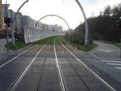 Y aquí había una pista de tranvías muy bonita.