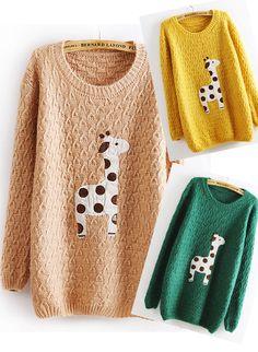 Lovely Dots Giraffe Sweater