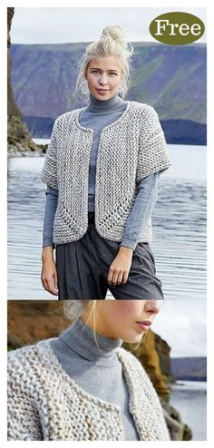 Free Knitting Pattern for a short sleeves garter stitch cardigan to knit with bu. Free Knitting Pattern for a cardigan with short sleeves for knitting with bulky yarn Source. Free Knitting Patterns For Women, Chunky Knitting Patterns, Knitting Tutorials, Sock Knitting, Vintage Knitting, Knitting Projects, Crochet Patterns, Knit Cardigan Pattern, Crochet Cardigan