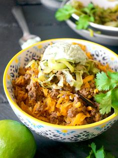 """AIP Taco Bowl 