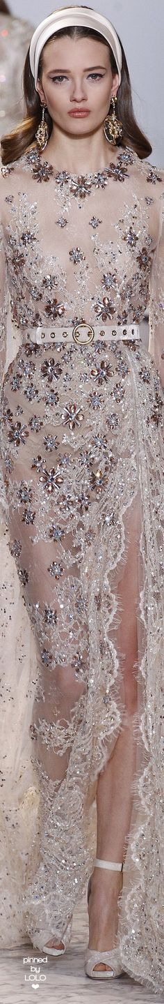 If I were famous one of  my designer would be... Elie Saab Spring 2017 Couture