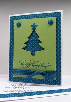 pretty Christmas card - video tutorial included