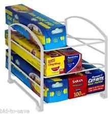 Kitchen Wrap Organizer Rack Shelf Foil Holder Cabinet Pantry Storage NEW