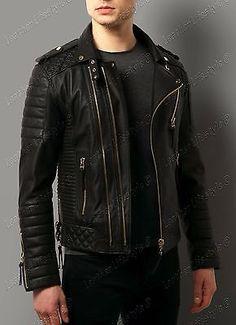 Womens Leather Jacket Stylish Motorcycle Biker Genuine Lambskin 163