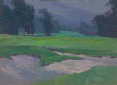 "American Legacy Fine Arts presents ""Purple and Green"" a painting by Alexey Steele."