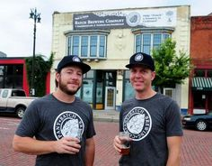 Stephen Roginson, left, and Jason Williams are two of three partners in Batch Brewing Company, which will open next year on Michigan Avenue near the former Tiger Stadium site.