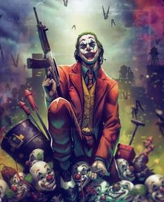 Joker by Vinz El Tabanas Batman Joker Wallpaper, Joker Iphone Wallpaper, Joker Wallpapers, Cartoon Wallpaper, Joker Comic, Joker Batman, Comic Art, Batman Art, Der Joker