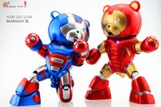 HGBF BEARGGUY III Ver. Captain America - Iron Man. Full Photo Reviews No.36 Big Size Images. Latest Works by 我是野区的小狼 http://www.gunjap.net/site/?p=270133