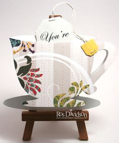 Tea party invitation by ros - Cards and Paper Crafts at Splitcoaststampers Girls Tea Party, Tea Parties, Tea Party Invitations, Birthday Cup, Kid Stuff, Cool Stuff, Tea Ideas, My Tea, High Tea