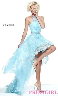 High-Low Lace Prom Dress by Sherri Hill