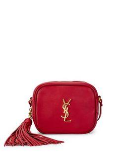 SAINT LAURENT Leather Monogram Blogger Bag. #saintlaurent #bags #shoulder bags #leather #crossbody #