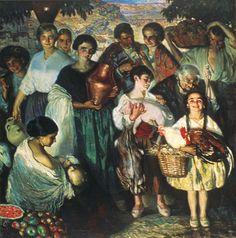Al Mercado by José Cruz Herrera (Spanish, 1890–1972)
