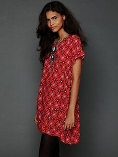 Charlotte Printed Dress. Super cute for the fall with tights!