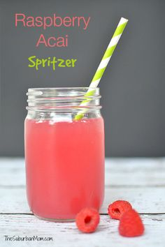 Raspberry Acai Spritzer #GirlsNightIn