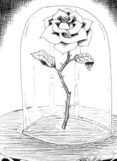 Beauty and the Beast Drawings | Beauty and the Beast Rose by KCJoker33 on deviantART