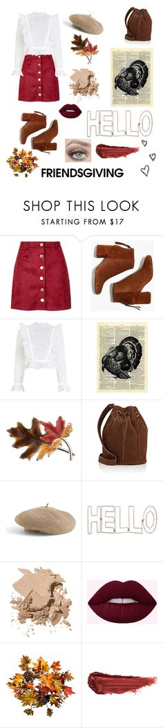 """""""FriendsGiving"""" by gs16 ❤ liked on Polyvore featuring Boohoo, Madewell, Zimmermann, Anne Klein, Jérôme Dreyfuss, Venus, Graham & Brown, Bobbi Brown Cosmetics, Improvements and Brinley Co"""