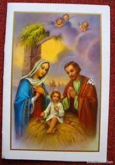 NAVIDAD PRECIOSA POSTAL DOBLE SAGRADA FAMILIA PESEBRE PORTAL DE BELÉN GREETING CARDS SUCCES X70 (Postales - Navidad)