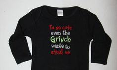 Embroidered infant gown I'm so cute even the by SoSewSimplySweet, $20.00