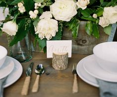 Feel free to put some personality into your place cards and match them to your wedding theme. We pulled together a handful of our favorite unexpected ideas!