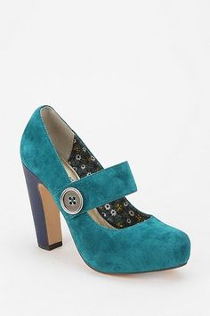 cause every girl needs a pair of blue suede mary janes ....