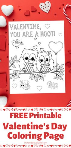 This You are a Hoot Valentine's Day Coloring Page is such a fun activity to do with your kids this Valentine's Day! This is a free printable so you can print out as many as you would like for tons of fun for the whole family! #valentinesdaycrafts #activitiesforkids #valentinesday #coloringpages #freeprintable #valentinesdaycraftforkids #happyvalentinesday Printable Valentines Coloring Pages, Valentines Day Coloring Page, Printable Coloring, Winter Activities For Kids, Activities For Girls, Printable Activities For Kids, Cute Valentine Ideas, Bear Coloring Pages, Valentine's Day Printables