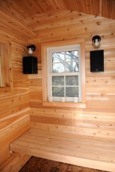 These poolside, lakeside and beachside saunas can heat up your options for outdoor relaxation and help you fight stress. Sauna House, Sauna Room, Outdoor Bathrooms, Outdoor Rooms, Building A Sauna, Portable Sauna, Outdoor Sauna, Sauna Design, Backyard Buildings