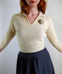 sweater & brooch!